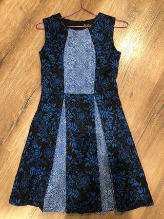Blue Floral Batik