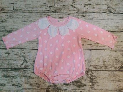 🚚 粉紅長袖包屁衣/3號(約3-6個月寶寶)