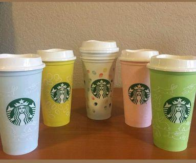 Starbucks Spring Easter 2019 Reusable Cup Collection  Grande 16oz