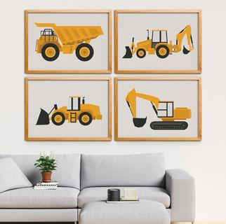 Construction Wall Poster