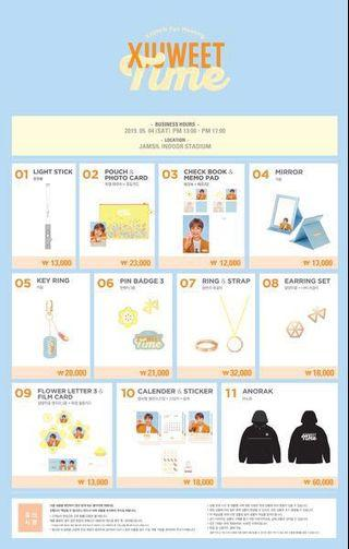 FAST SG GO // XIUMIN FANMEETING GOODS