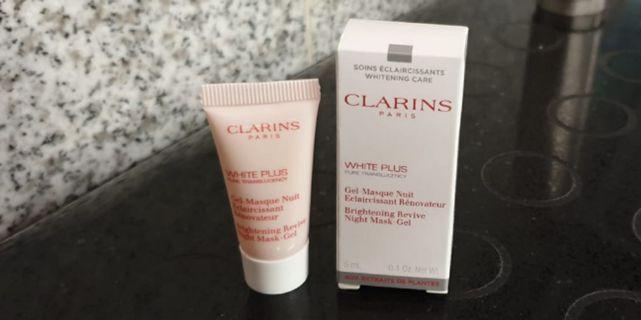 New Clarins White Plus Brightening Revive night mask gel