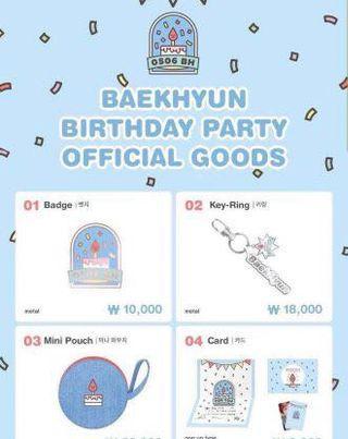 FAST SG GO // BAEKHYUN BIRTHDAY PARTY GOODS