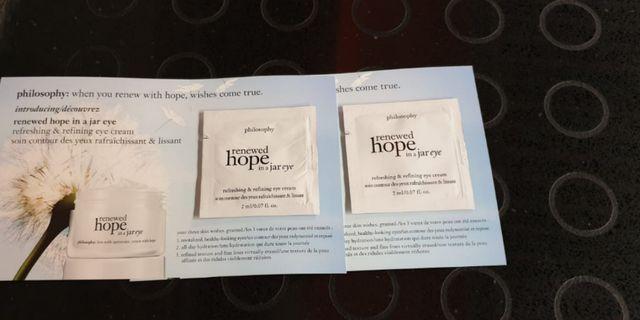 New Philosophy Renewed hope in a jar eye Refreshing & refining eye cream