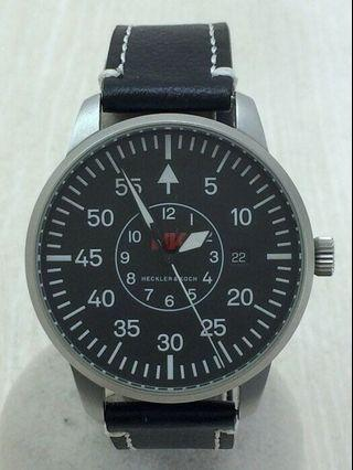 🚚 如新品🇨🇭 瑞士原裝 Heckler & Koch 美國軍用品聯名款機械錶 (LACO軍錶代工)