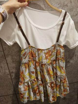 Yellow 2 in 1 Top