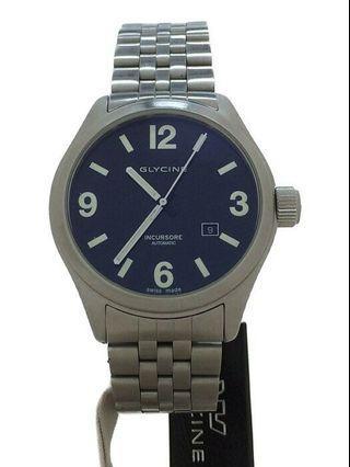 🚚 全新正品 🇨🇭 瑞士原裝 GLYCINE 特別版深藍面盤軍錶 (AUTOMATIC)
