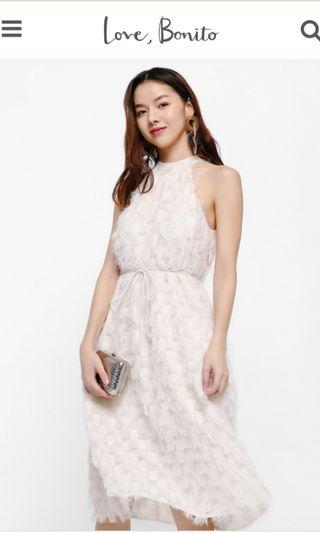 Love Bonito Niko Textured Halter Dress