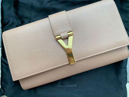 YSL nude chyc clutch bag