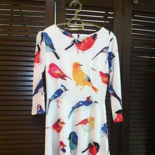 Dress With Bird Prints