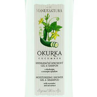 manufaktura的Gentle Hydrating Shower Gel & Shampoo with Rhubarb & Wild Cherry Extracts, Hydrating Shower Gel & Shampoo 2 in 1 with Daisy and Almond Oil,Hydrating Shower Gel & Shampoo 2 in 1 with Cucumber and Oat Extract