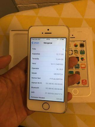 #BAPAU iPhone 5s silver 16gb