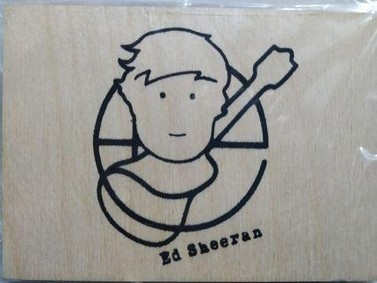 Ed Sheeran Wooden Postcard