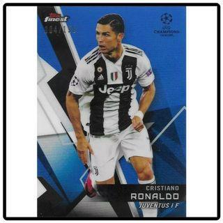Topps Finest Champions League 2018/2019 Cristiano Ronaldo Blue Parallel 004/150