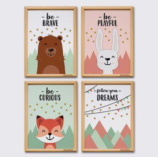 Animal Wall & Quotes Posters