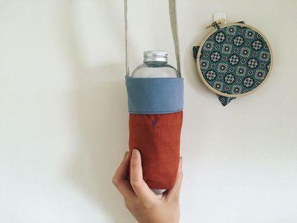 手作防水飲料提袋