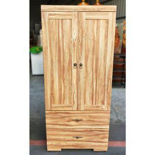 雙門衣櫃/雙門二抽衣櫃/雙門2抽衣櫥/雙開2抽衣櫃/雙開兩抽屜衣櫥