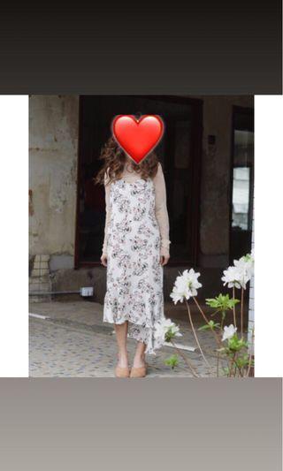 Long flora dress
