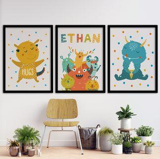 Customized Name Monster Theme Poster