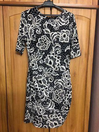 Flower Print Casual / Formal Dress