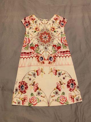 Zara Girls Floral Dress 11-12t
