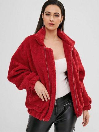 ZAFUL red teddy coat