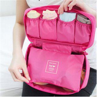 Travel Organizer Cosmetic Bag Portable Luggage Storage Case Bra Underwear Pouch