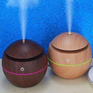Free Delivery + Free Essential Oil. USB Wooden Diffuser. Aroma With LED Lights. For Home & Office Use