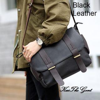 Men Sling Messenger Formal Leather Bag