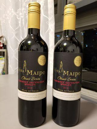 Vina Maipo Cabernet Sauvignon Merlot 2018 Red wine 紅酒