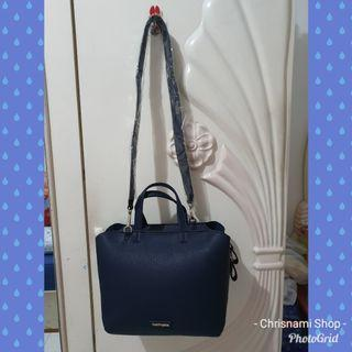 Tas Hush Puppies Original Biru Navy Original