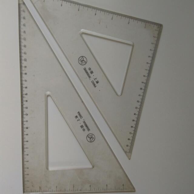 28cm 三角尺 一套