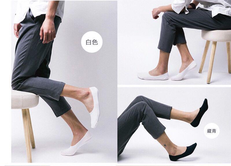 男士精梳棉360防滑防脫隱形襪