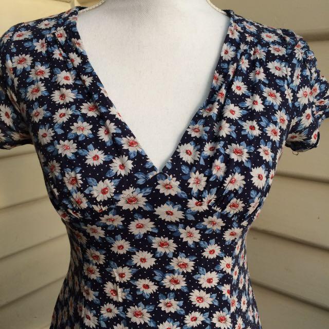 90s vintage forever 21 floral dress