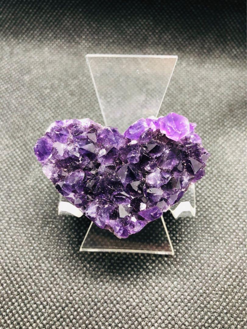 聖誕減價 烏拉圭 心型 小愛心 紫水晶(2)