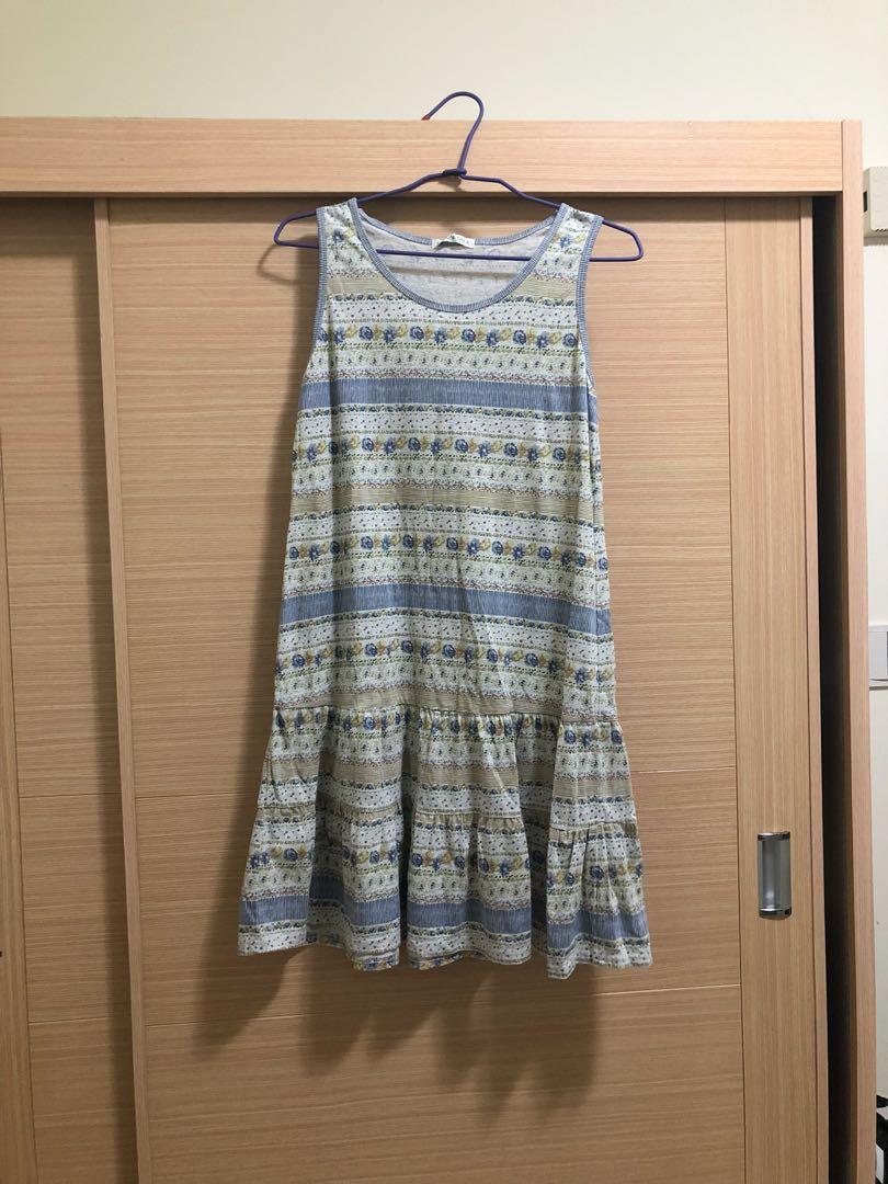 日系無袖洋裝 #森林系