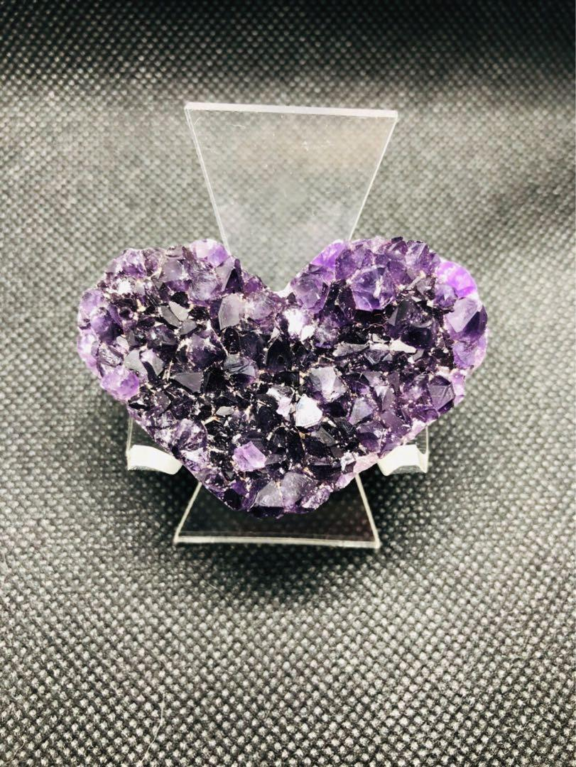 烏拉圭 小愛心 紫水晶 (1)