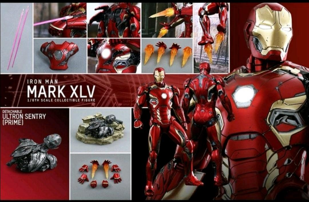 全新 HOTTOYS MMS300 AVENGERS 2 IRONMAN MARK 45 XLV 鐵甲奇俠  endgame 復仇者聯盟