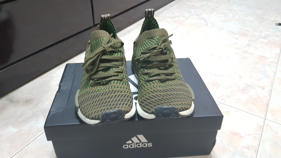 new product 7e5df 8b871 Adidas NMD R1 STLT PK SNEAKERS Brown Green White