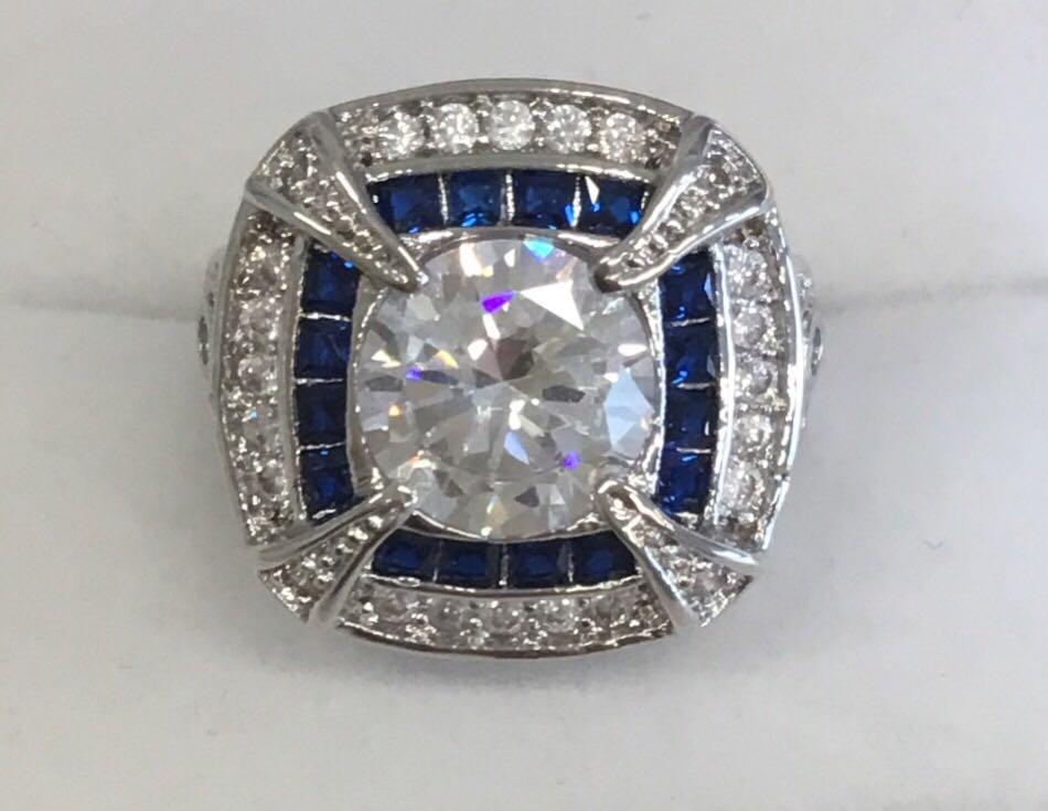Art Deco Sapphire Statement Ring