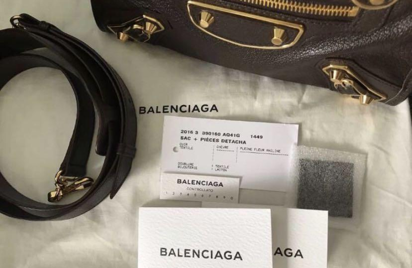 authentic balenciaga mini city edge 2016 black