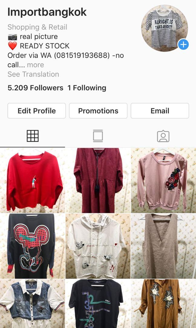 Baju bangkok import