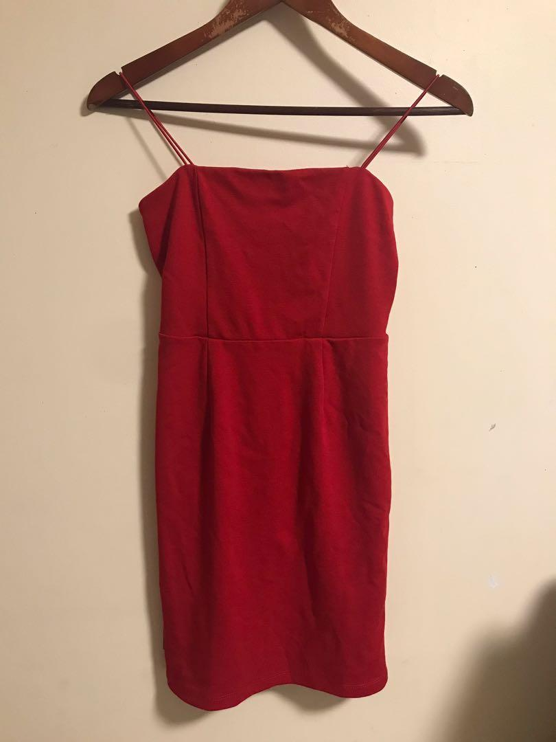 Bardot Red Bodycon