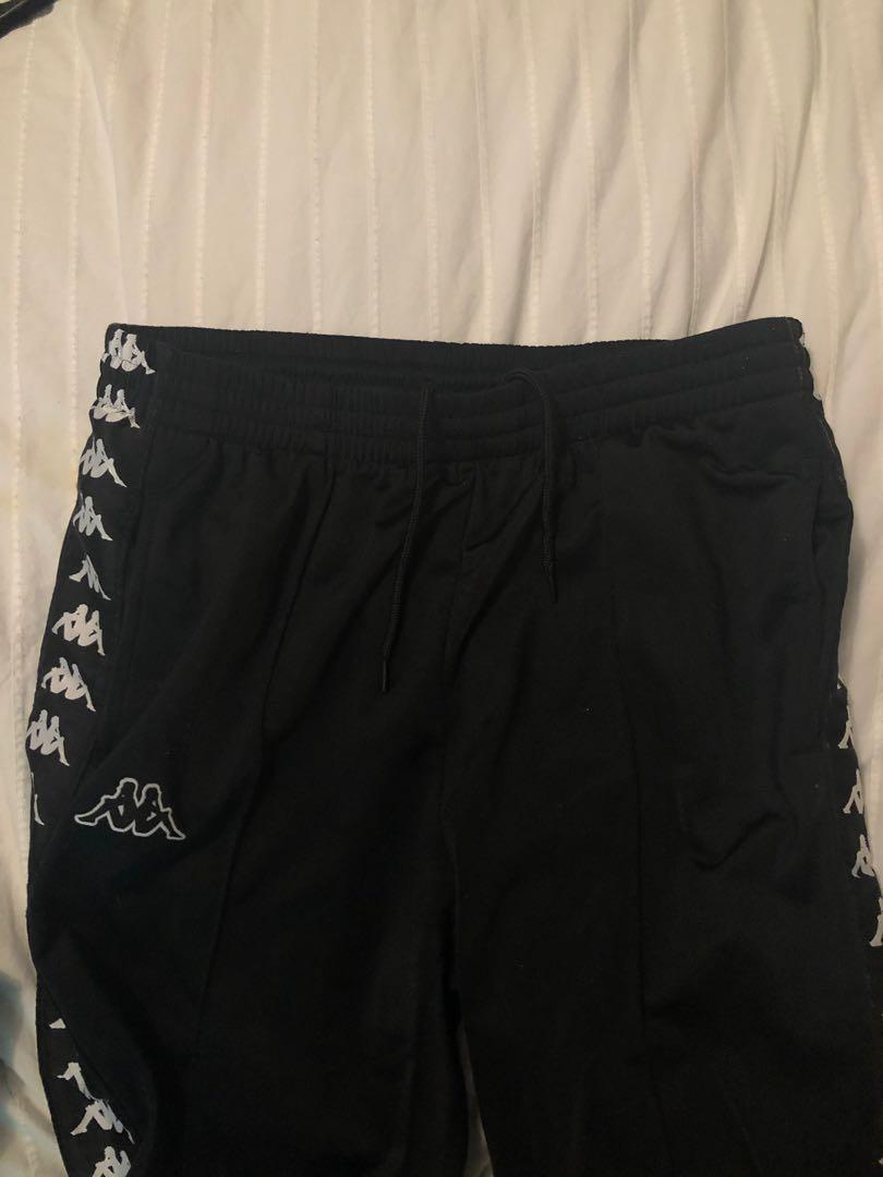 Black Kappa Track Pants