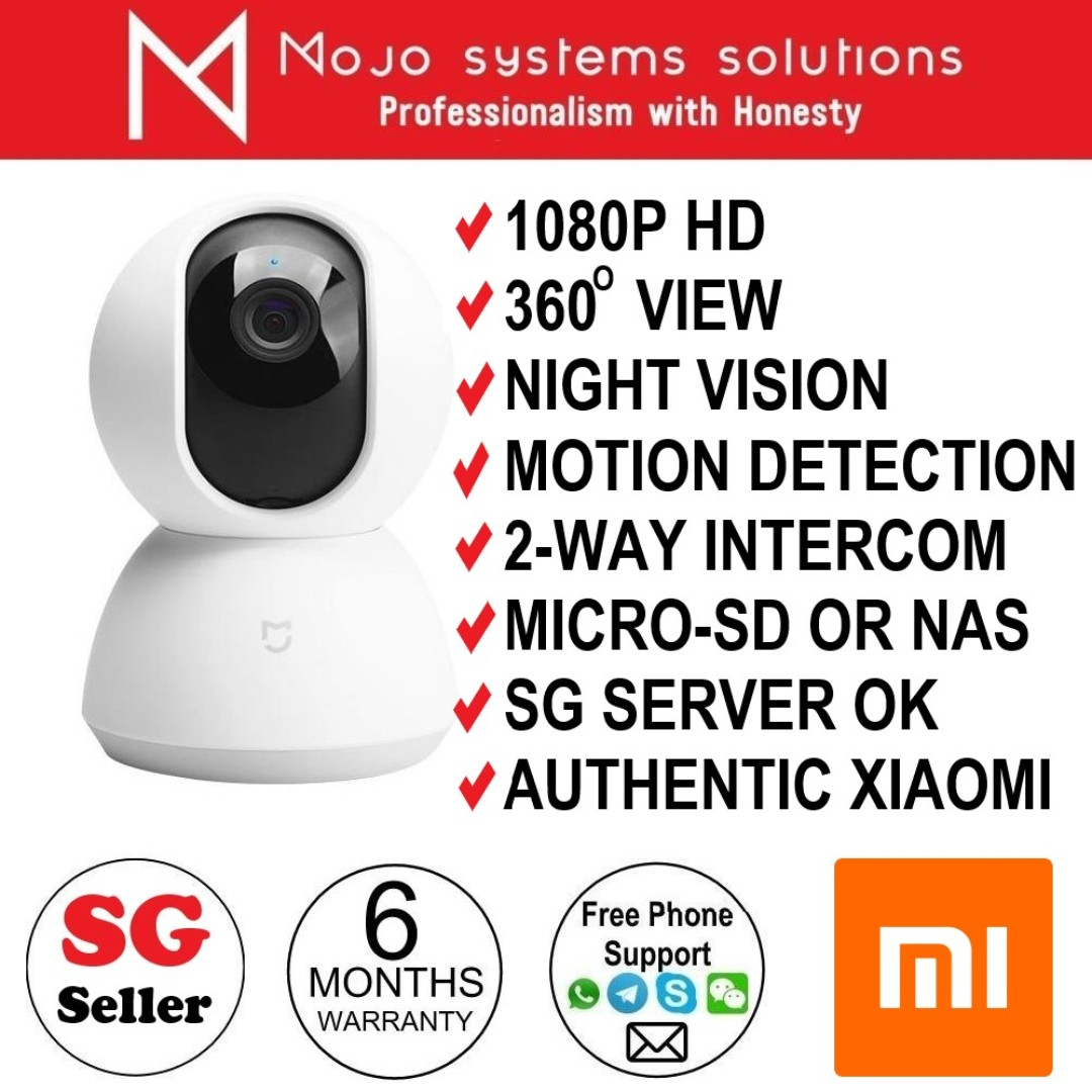 BN Xiaomi Mi Home Wireless Security CCTV Night Vision 360 Degree 1080P IP  Camera works with IOS or Android works with IOS or Android Mi Home APP by