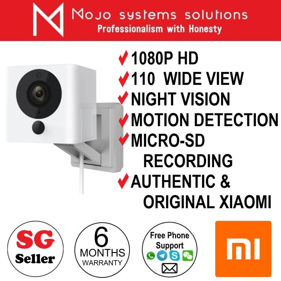 BN Xiaomi Mijia Mi Home Xiaofang 1S 1080P Security CCTV Night Vision  Wireless Network IP Camera 110 Degree Wide Angle works with IOS or Android  Mi