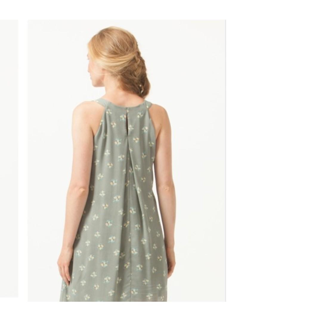 Bove by Spring Maternity Halter Yvonne Nursing Dress Grey Floral (M)