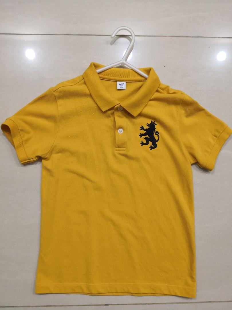 Boy Yellow Polo Tee Age 6 to 7