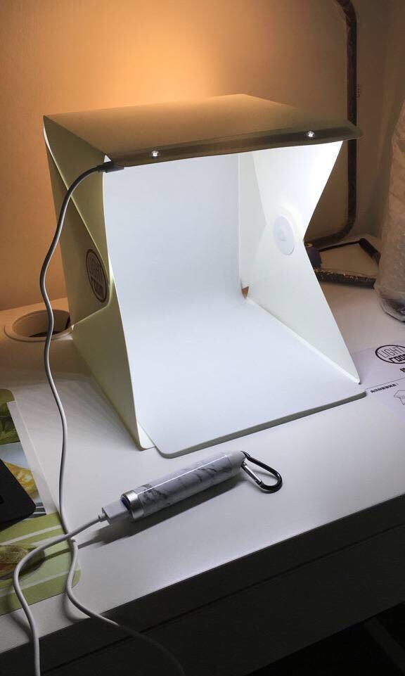 Brand New Photography Box Kit with Led Light photobox lightbox photo taking  studio room tent amulet LEGO figurine