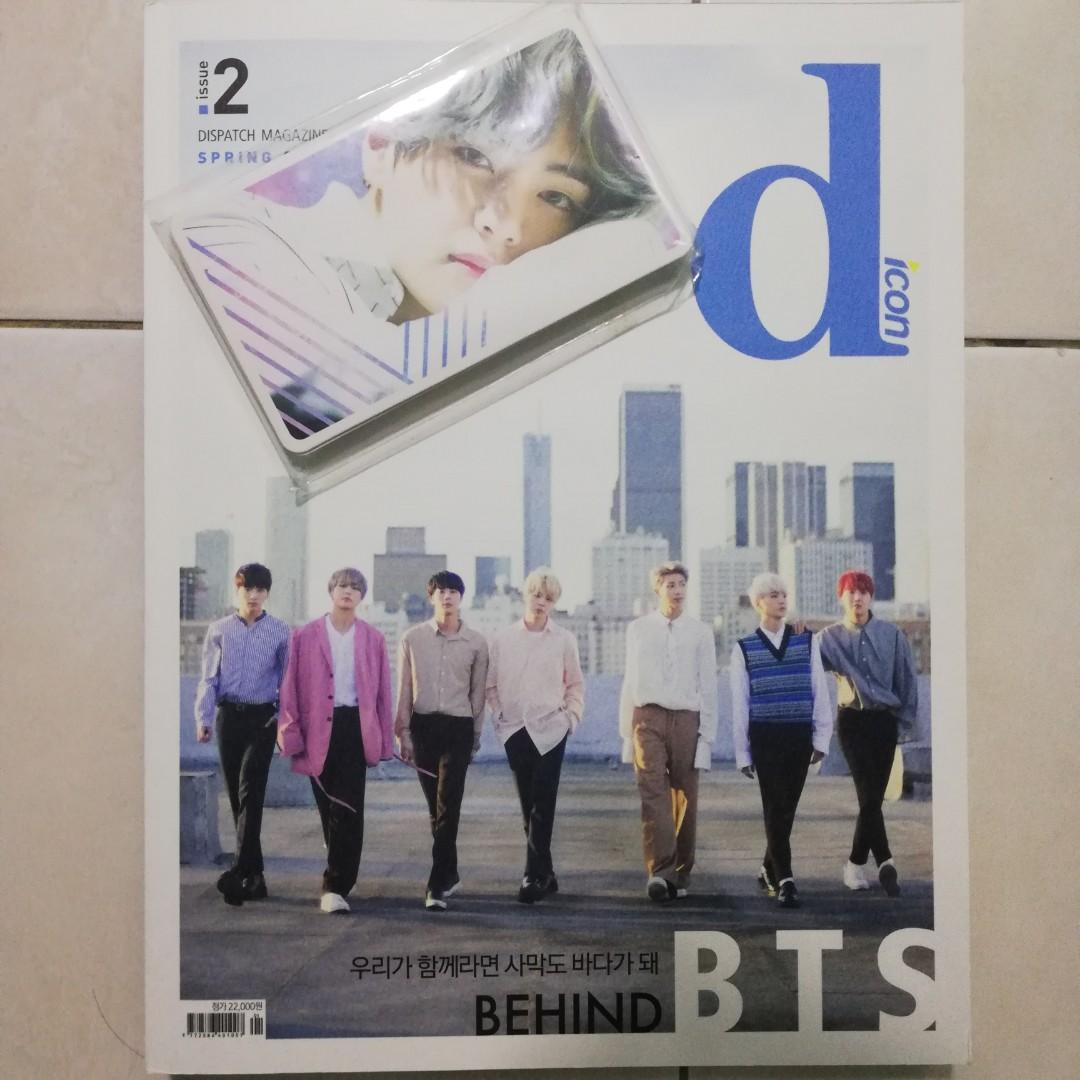 BTS DICON MAGAZINE with photocard without postcard